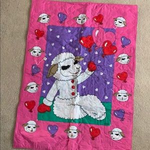 Lamb chop baby blanket - 31 by 43 inches